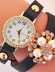 Momen's Fashion Creative  Korean Version Of Pearl Inlaid Diamond Flower Bracelet Watch Cool Watches Unique Watches