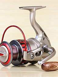 Metal  Fishing Spinning Reel 10 Ball Bearings  Exchangable Handle-DF4000