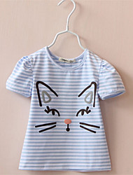 Shirt For 3-6 Years Girls 2016 NEW Children Lovely Cat T Shirts Girls' T-Shirts Kids Short Sleeve Tee Baby Clothing