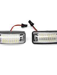 2PCS To-yota GT86 FT86 Subaru BRZ Scion FR-S Impreza Le-gacy LED License Plate Lamp 14W with Special LED Decorder