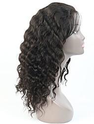 peruca brasileira onda de água virgem do cabelo humano completo / rendas frente 8-24 polegadas para as mulheres negras