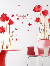 Fashion / Floreale Adesivi murali Adesivi aereo da parete,PVC 60*90cm(23.6*35.4 inch)