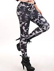 Women Print Legging,Polyester Medium