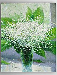 Oil Painting Impression Flowers in Vase Hand Painted Canvas with Stretched Framed Ready to Hang