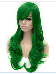 Green Synthetic Long Curly Cosplay Wigs 65cm