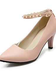 Черный / Розовый / Белый-Женская обувь-Свадьба / Для вечеринки / ужина / Для праздника / На каждый день-Дерматин-На шпильке-На каблуках-