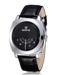SKONE® Unique Vogue Designer SKONE® Brand Watches Men Luxury Fashion Casual Leather Strap Watch Quartz Wrtistwatch