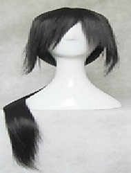 Black Cosplay Wig Super Long Straight  Synthetic Hair Wigs  Animated Party Wigs