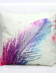 3D Feather Pattern Velvet Pillowcase Sofa Home Decor Cushion Cover (18*18inch)