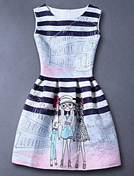 Girl's Casual/Daily Dress,Rayon Summer / Fall / Spring Blue