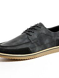 Men's Shoes Leather Office & Career / Casual Oxfords Office & Career / Casual Flat Heel Black/ Brown