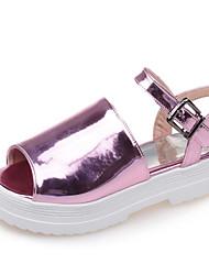 Women's Shoes Platform Slingback/Open Toe Sandals Dress/Casual Black/Purple/White/Silver/Gold