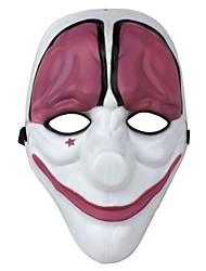 Plastic Game Theme Party Festival Clown Mask