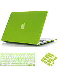 "Case for Macbook Air 13.3"" Solid Color ABS Material 3 in 1 Quicksand Matte Full Body Case with Keyboard Cover and Dust plug"