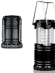 Ultra Bright Portable 30 Leds Camping Lantern Flashlight Black Collapsible Tent Light