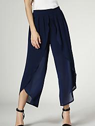 Pantalon Aux femmes Ample Vintage / Street Chic Polyester Micro-élastique