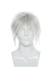 Man's Cosplay Wig Short Straight Synthetic Hair Wigs Silver Color  Cosplay Costume