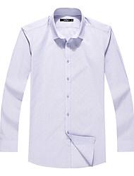 Sieben Brand® Herren Hemdkragen Lange Ärmel Shirt & Bluse Blau-704A3B4253