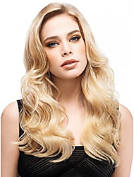 Long Curly Hair European Weave Light Blonde Hair Wig
