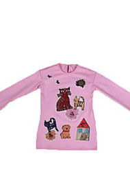 Girl's Pink Tee,Cartoon Cotton Spring / Fall