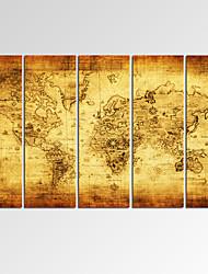 Карты / фантазия / Отдых / Фото / Фэнтэзи / Музыка / Патриот / Модерн / Романтика Холст для печати 5 панелей Готовы повесить,