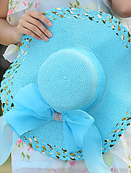 Women Straw Bow Floppy Hat,Party / Casual / Fashion Spring / Summer / Fall