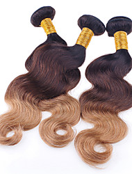 3 Pieces Wavy Human Hair Weaves Brazilian Texture Human Hair Weaves Wavy