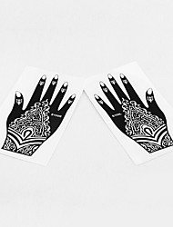Stencils de Tatuagem TemporáriaAdulto / Adolescente- dePVC-Preta-22*10*0.21