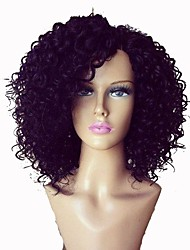 2016 Kinky Curly Full Lace Human Hair Wigs Black Women Side Part Brazilian Virgin Hair Wig Human Hair Lace Front Wig