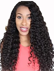 Glueless Full Lace Human Hair Wigs For Black Women Brazilian Virgin Hair Kinky Curly Lace Front Wig