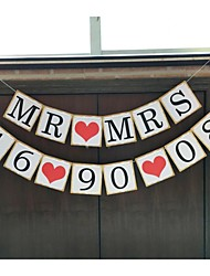 Personalised Mr Mrs With Your Date Wedding Save The Date Birthday Engagement Party Banner Sign Photo Prop with String