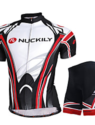NUCKILY Bike/Cycling Jersey + Shorts / Clothing Sets/Suits Men's Short Sleeve Breathable / Ultraviolet Resistant / Quick Dry / Sunscreen