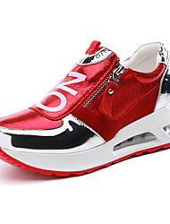 Sapatos Tênisq Feminino Preto / Vermelho Sintético