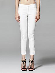 ZigZag® Women's Mid Rise Culotte White / Khaki Casual Pants - 11256