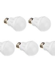 5w e26 / e27 ampoules globe munies 21 smd 2835 500-550 lm chaud blanc ac 220-240 v 5 pcs