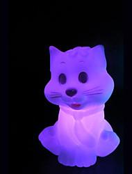 творческий цвет-изменяя маленький кот красочный свет ночи СИД