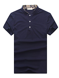 The 2016 Summer men's T-shirt collar men's personality trend of pure POLO Shirt Mens Clothing
