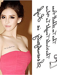 Outros-RC-Tatuagem Adesiva-Waterproof- paraFeminino / Masculino / Adulto- dePVC-Dourada-10.5*6cm-letter- com1pcs