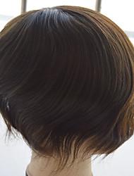 """природные прямые мужские шиньоны парик 6 """"в порядке моно Реми человеческие волосы 10"""" x8 """"шиньон для мужчин"""
