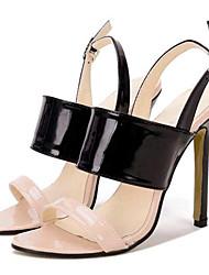 Women's Shoes Leatherette Stiletto Heel Heels Sandals Party & Evening Black