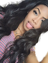 Half Machine Made Half Tied Made Body Wave Lace Front Wig Virgin 22inch Brazilian Human Hair Glueless Front Lace Wig