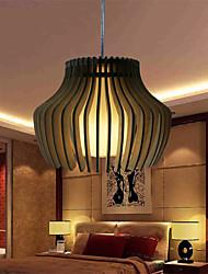 12W Vintage LED Wood Pendant Lights Living Room / Bedroom / Dining Room / Study Room/Office / Hallway