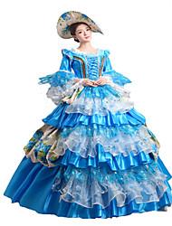 steampunk®classic século 18 Marie Antoinette vestido inspirado azul vestido vitoriano vestido de festa halloween