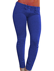 Women Solid Color Legging,Cotton