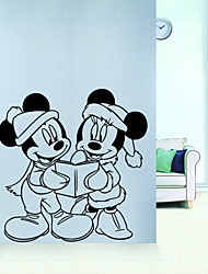 Animals Mouse Wall Stickers Cartoon Wall Decals Romance / 3D Wall Stickers Plane Wall Stickers,vinyl 56*54.5cm