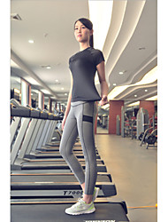 Running Clothing Sets/Suits Women's Short Sleeve Quick Dry / Sweat-wicking TactelYoga / Fitness / Diving / Racing / Leisure Sports /