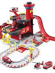 ZhongShengAE0701 Simulation of Fire And Rescue Center Parking Lot Children's Toys