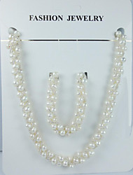 Women's Pearl Jewelry Set Pearl