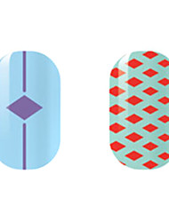 Purple/Red Diamond Hollow Nail Stickers