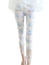 Pantalon Aux femmes Slim Décontracté / Street Chic Rayonne / Polyester Elastique